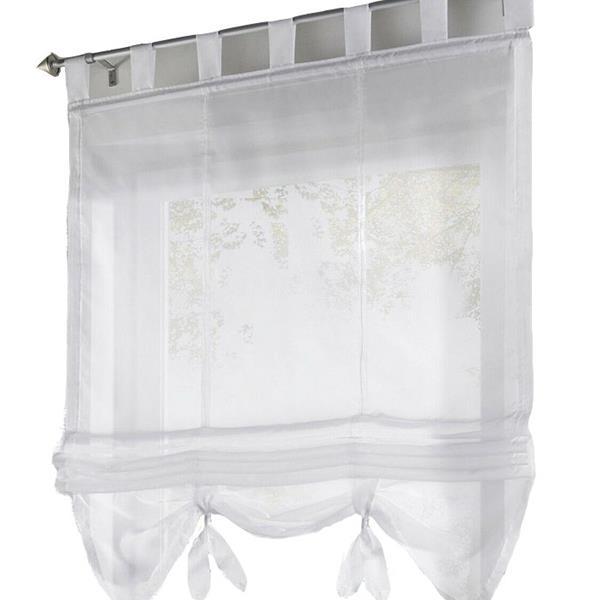 Liftable Voile Sheer Roman Curtain 80*155 cm