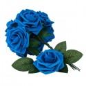 50pcs PE Foam Rose Flower Dark Blue