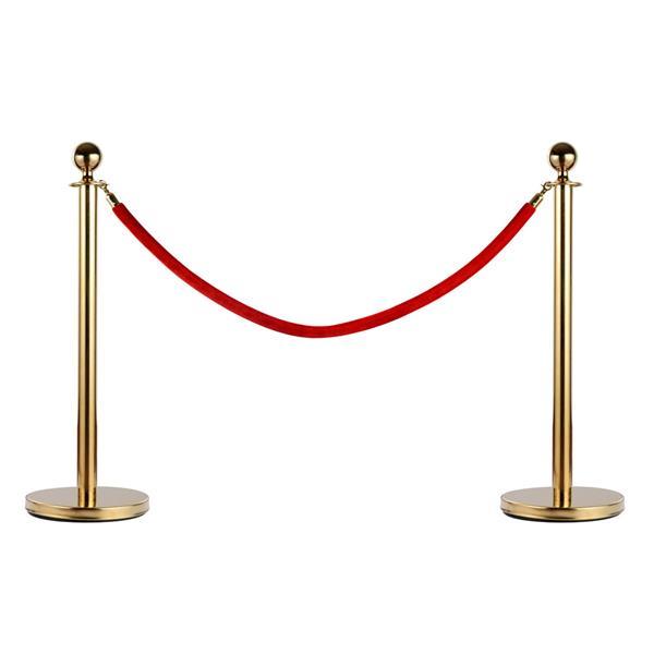 4pcs 32*95CM Concierge Columns Pillars 2 1.5M Velvet Ropes Gold