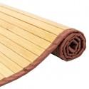"21""*60"" Non-sliding Waterproof Bamboo Floor Mat Natural"