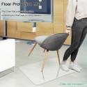 PVC Dull Polish Chair Mat Protection Floor Mat 90x120x0.2cm Rectangular