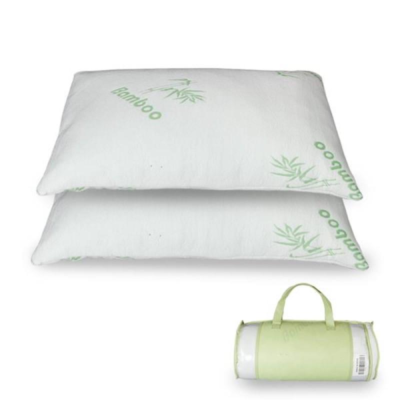 [US-W]Premium Firm Hypoallergenic Bamboo Fiber Memory Foam Pillow Queen (Single/Nantong)