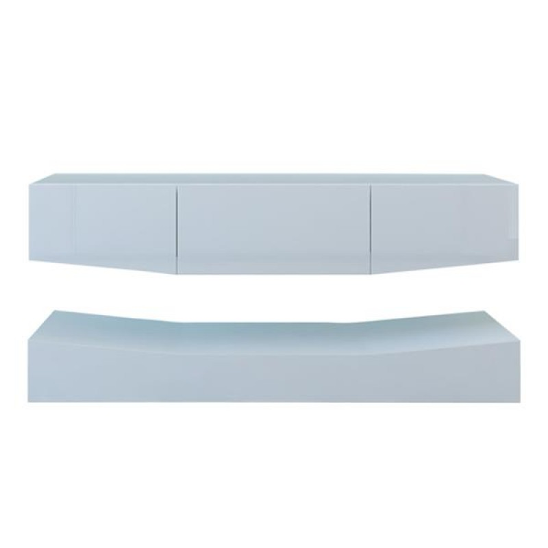 120cm LED TV Cabinet With Upper And Lower Wall White