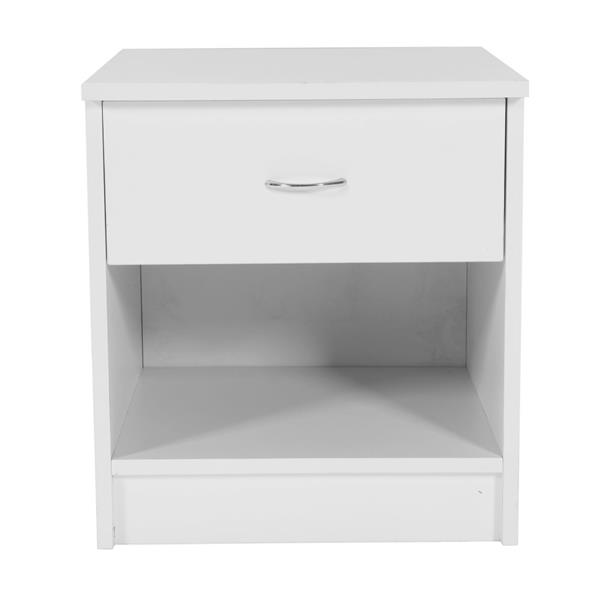1pc Drawer Arc-shaped Handle Night Stand White