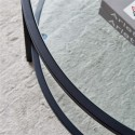 Glass coffee table with large storage space