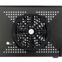 360-Degree Rotation Multifunctional Portable Folding Table with Fan & Mouse Black