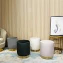 FCH Ottoman Set Round Velvet Footrest Modern Vanity Stool Seat Bedroom Living Room